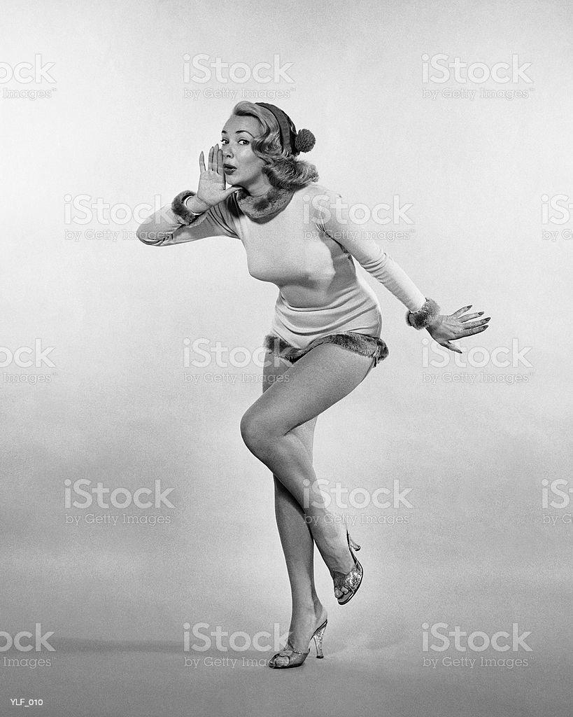 Woman posing, wearing leotard royalty-free stock photo