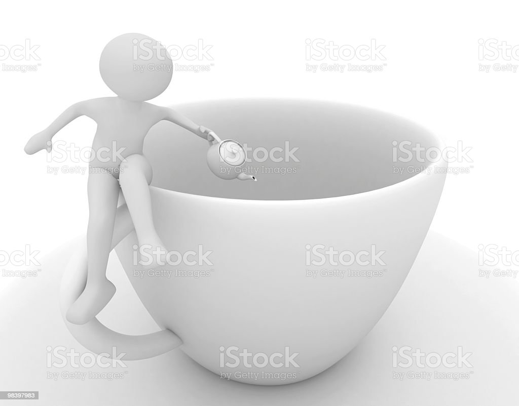 woman pours coffee into cup royalty-free stock photo