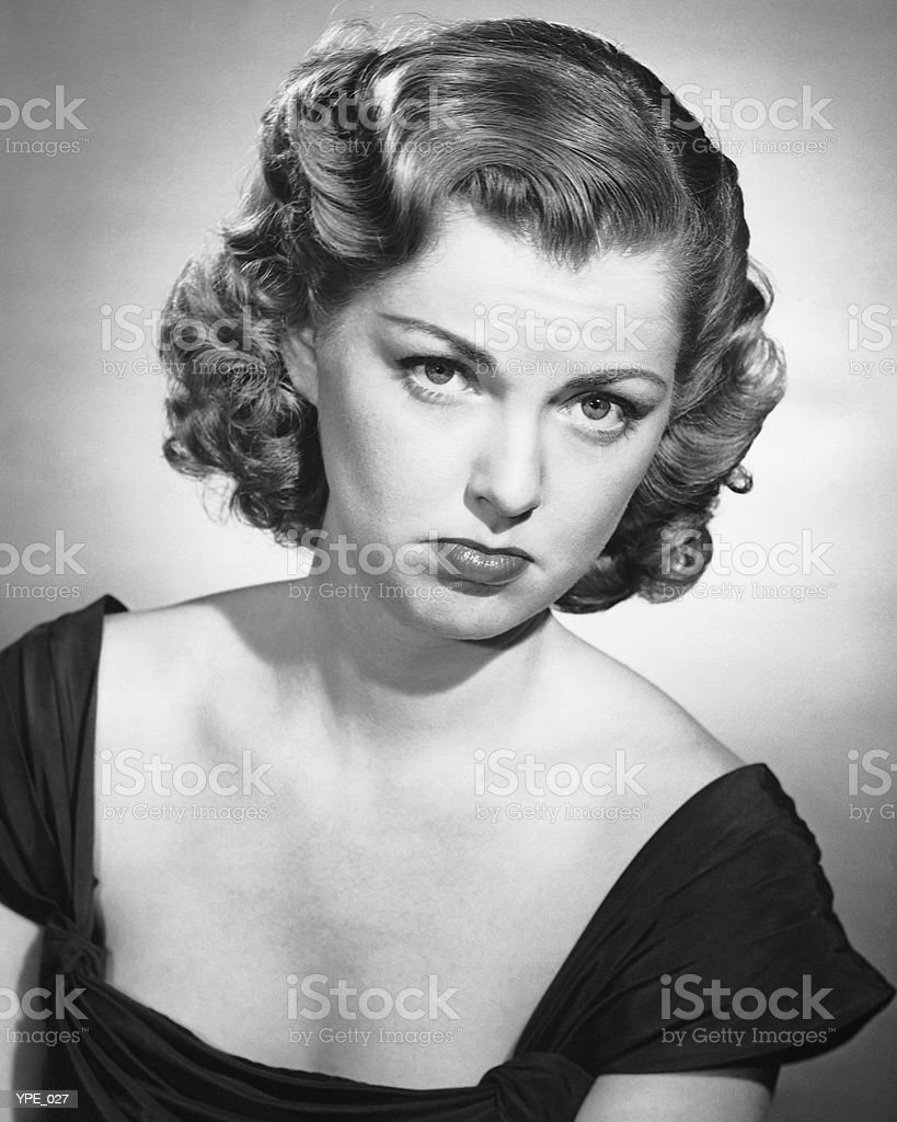 Mulher pouting foto royalty-free