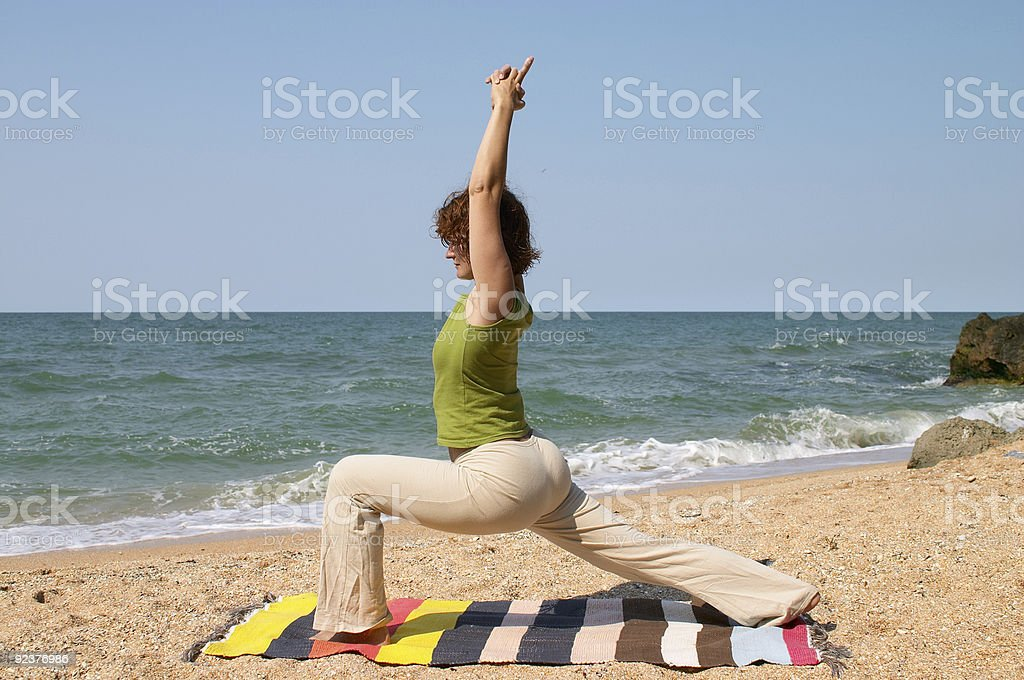 woman practice yoga asana royalty-free stock photo