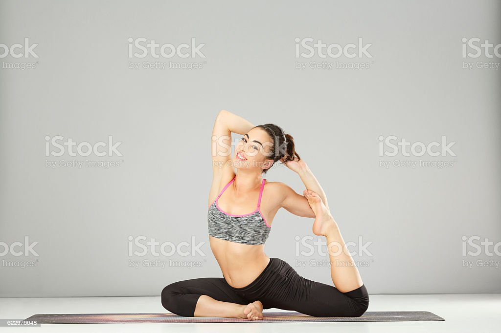Woman Practicing Advanced Yoga Fitness Stretching Training Yoga Poses Pilates Stock Photo Download Image Now Istock