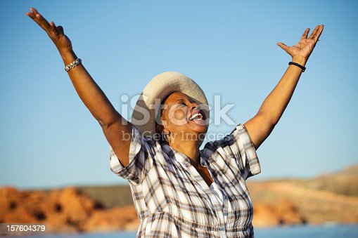 istock Woman Praising 157604379
