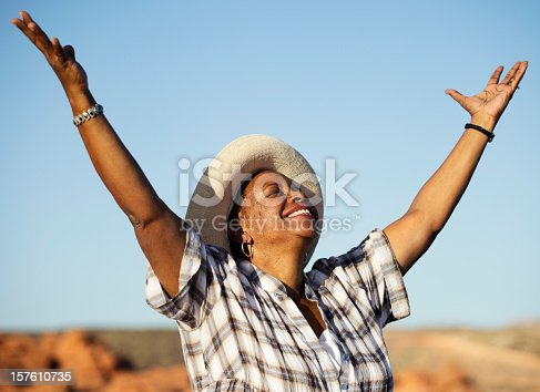 istock Woman Praising 157610735