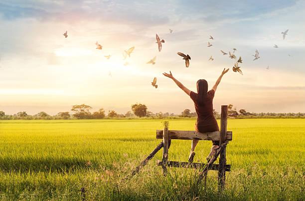 Woman praying and free bird enjoying nature on sunset background picture id613672892?b=1&k=6&m=613672892&s=612x612&w=0&h=zp y9eq 4tsnv5eg f0bnroegmyopfcc4ongjw2ixmo=
