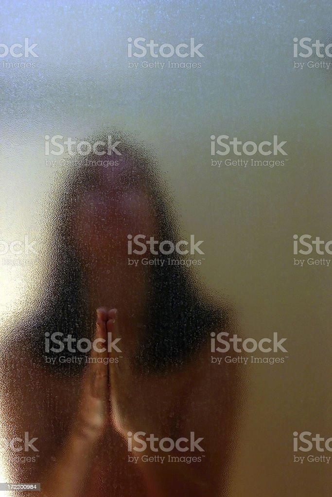 Woman Praying #2 royalty-free stock photo