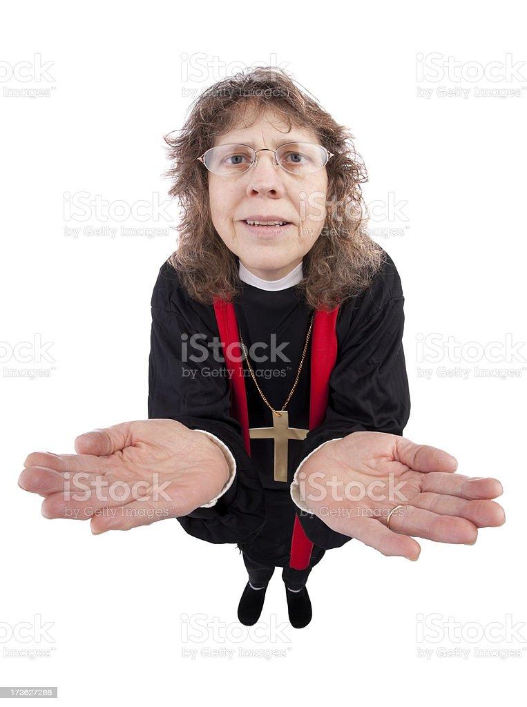 Woman Preacher royalty-free stock photo