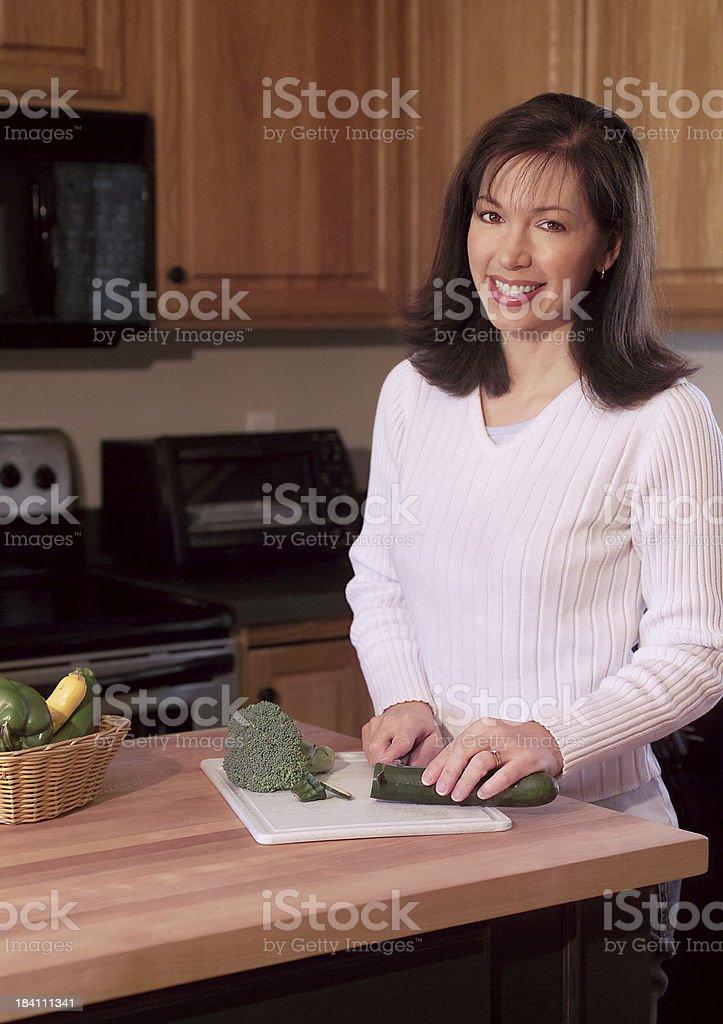 woman preparing food royalty-free stock photo