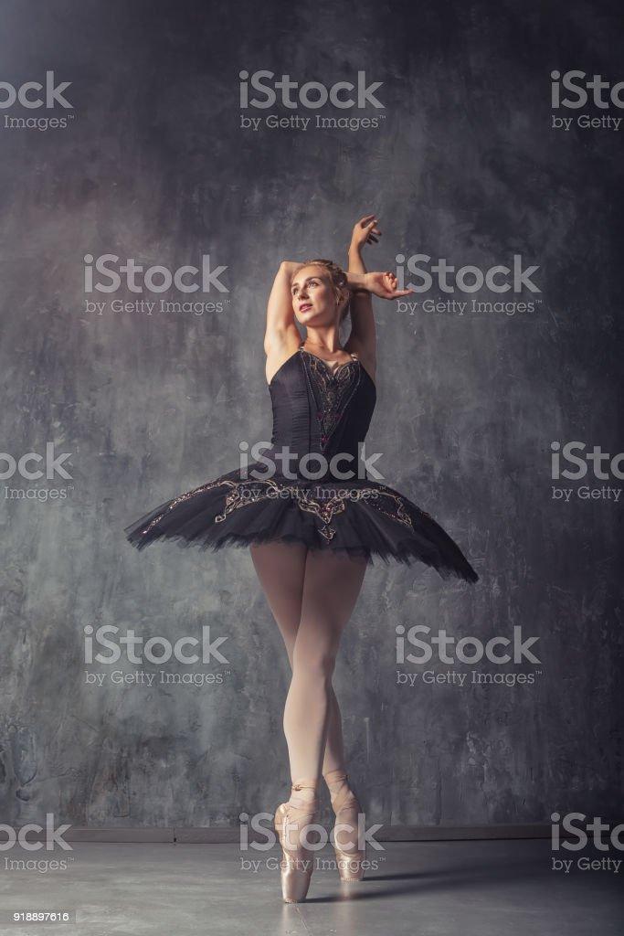 woman primer ballerina stock photo