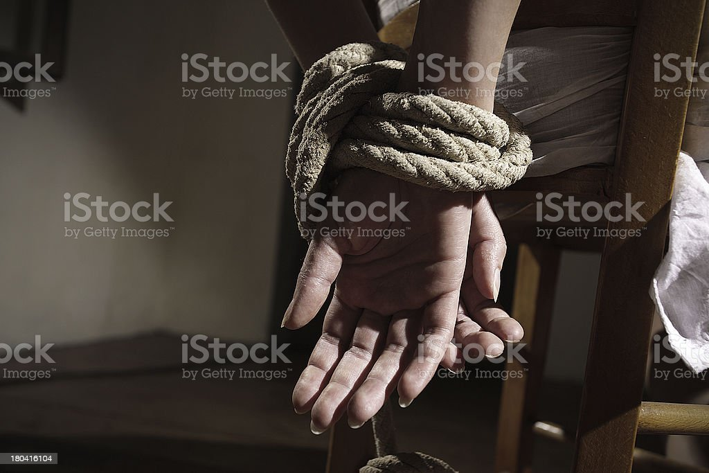 Woman prisoner stock photo