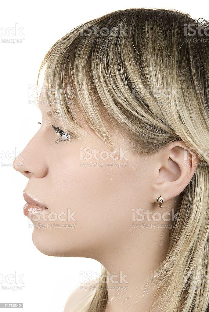 woman profile royalty-free stock photo