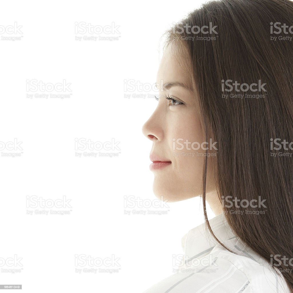Woman profile royalty-free stock photo