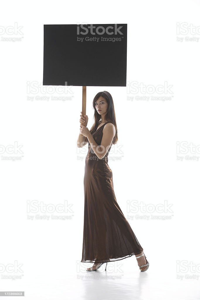 Woman Protest royalty-free stock photo