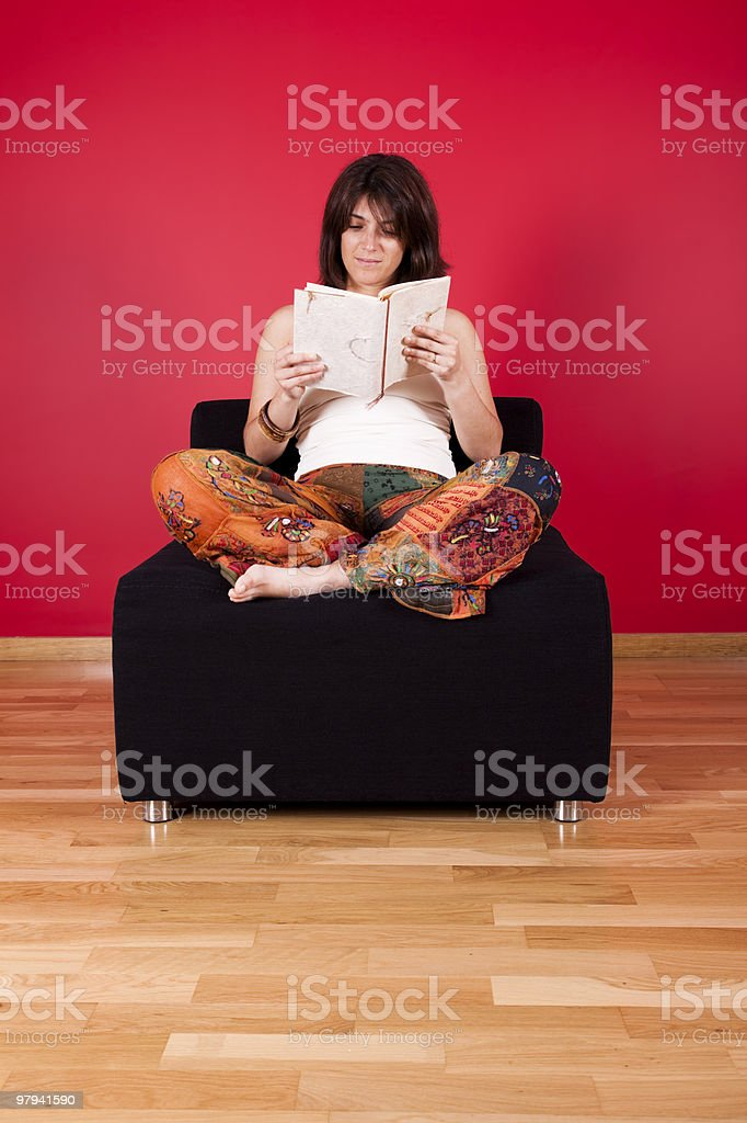 Woman reading a book royalty-free stock photo