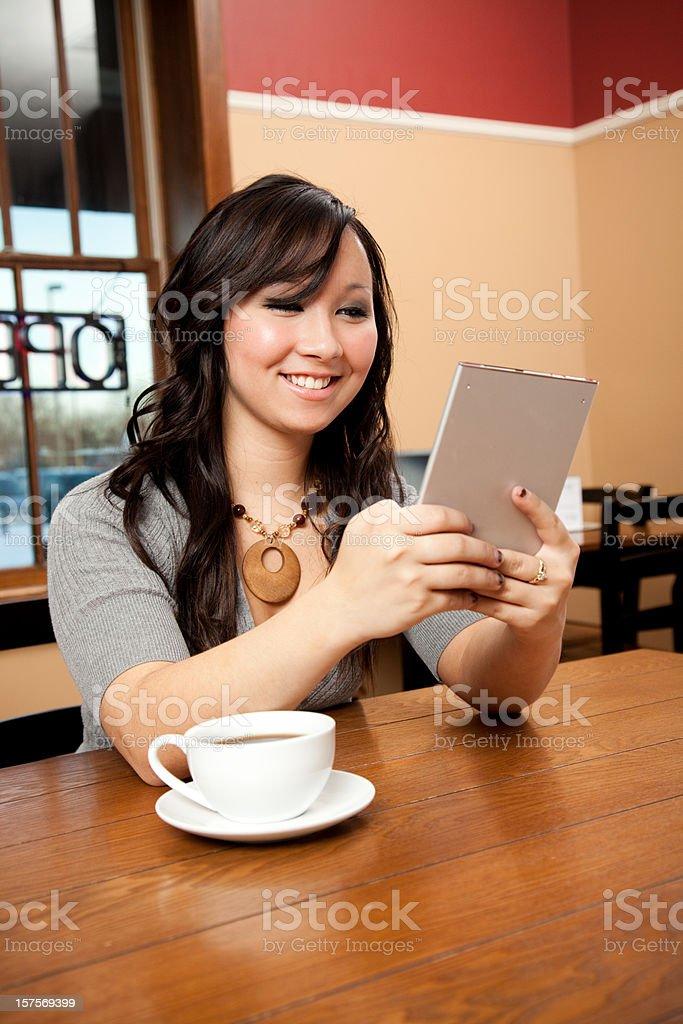 Woman Reading eBook royalty-free stock photo