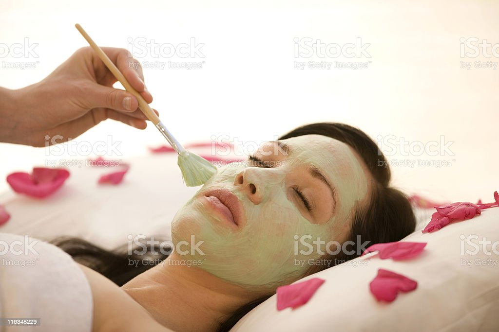 Woman Receiving A Facial royalty-free stock photo
