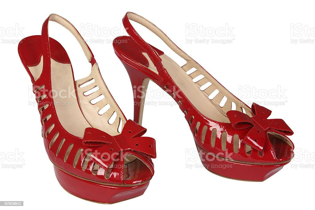 Woman red shoe royalty-free stock photo