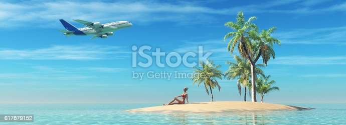 istock Woman relax 617879152