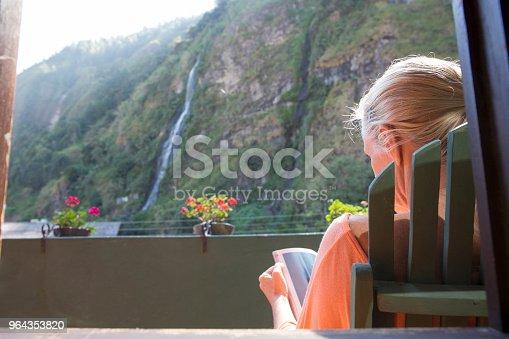 Devil Pailon waterfall in Banos