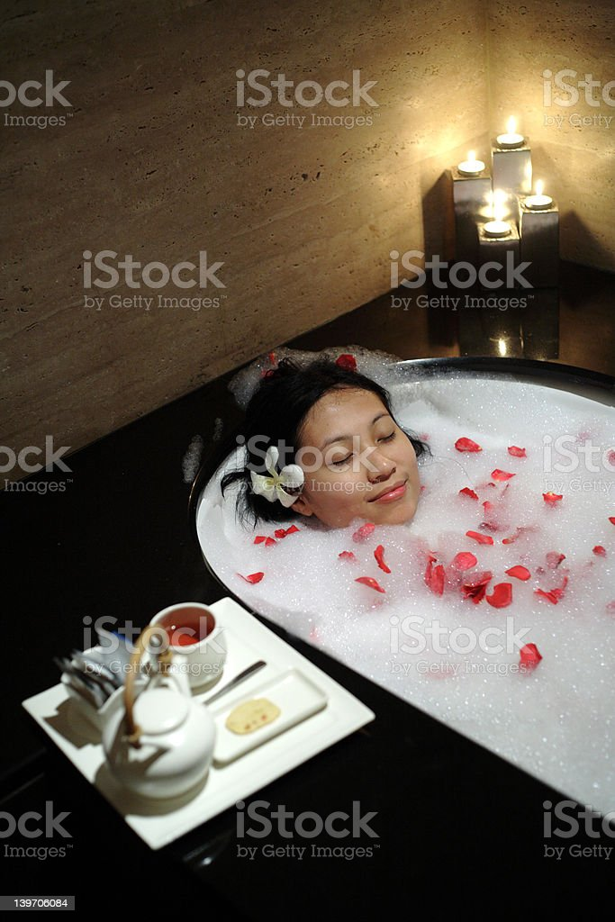 Woman Relaxing at Spa royalty-free stock photo