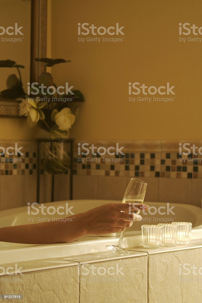 Woman Relaxing in Bathtub Series royalty-free stock photo