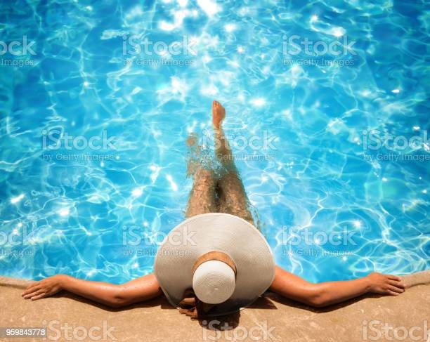Woman relaxing in the pool picture id959843778?b=1&k=6&m=959843778&s=612x612&h=yvefcoiw93liz72ntdlshuhudx6ukwhcmthoqqol ne=