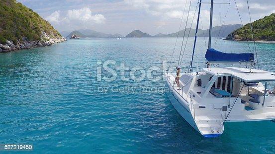544966382istockphoto Woman relaxing on Catamaran in Caribbean 527219450