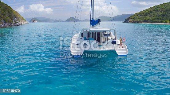 544966382istockphoto Woman relaxing on Catamaran in Caribbean 527219470