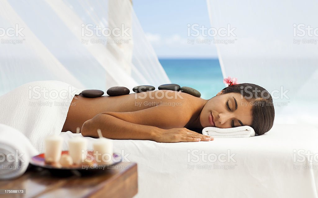 Woman relaxing on the spa royalty-free stock photo