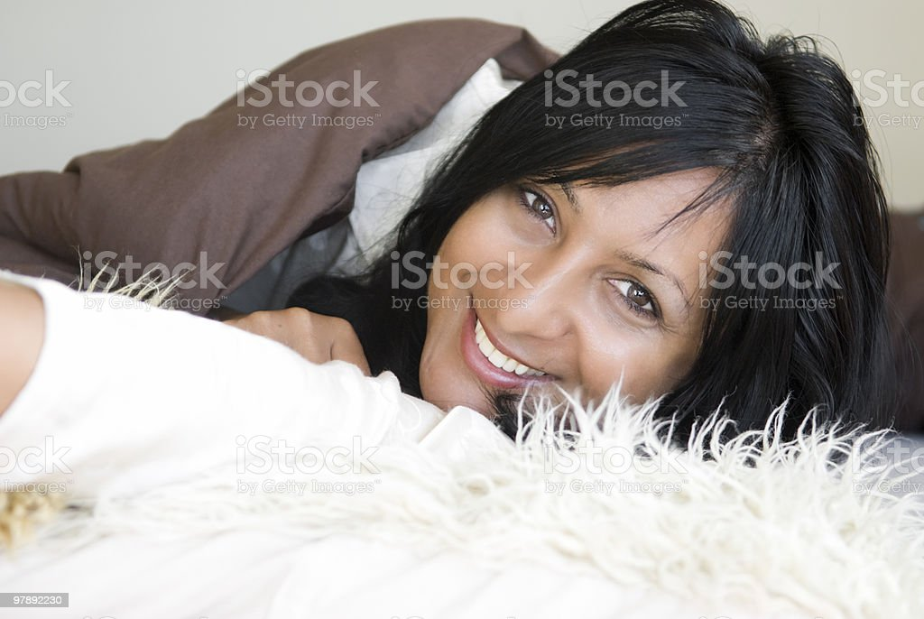 Woman relaxing. royalty-free stock photo