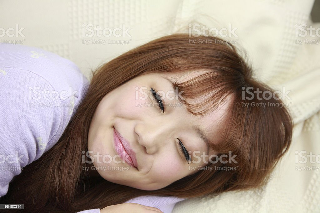 Woman relaxing royalty-free stock photo