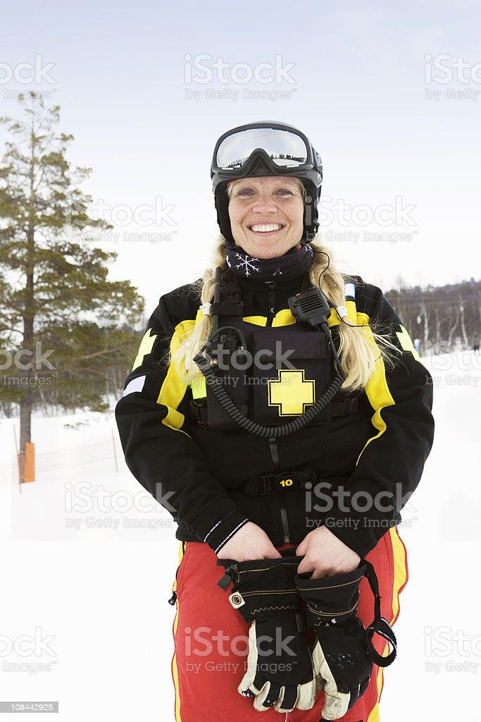 Woman Rescue stock photo