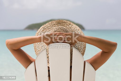 istock woman resting in a chair 182229089
