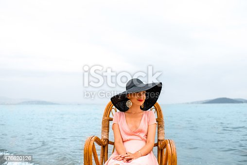 istock Woman resting on the beach 476620126