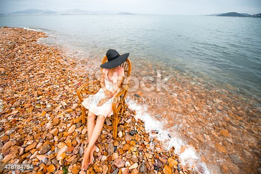 476618818 istock photo Woman resting on the beach 476764794