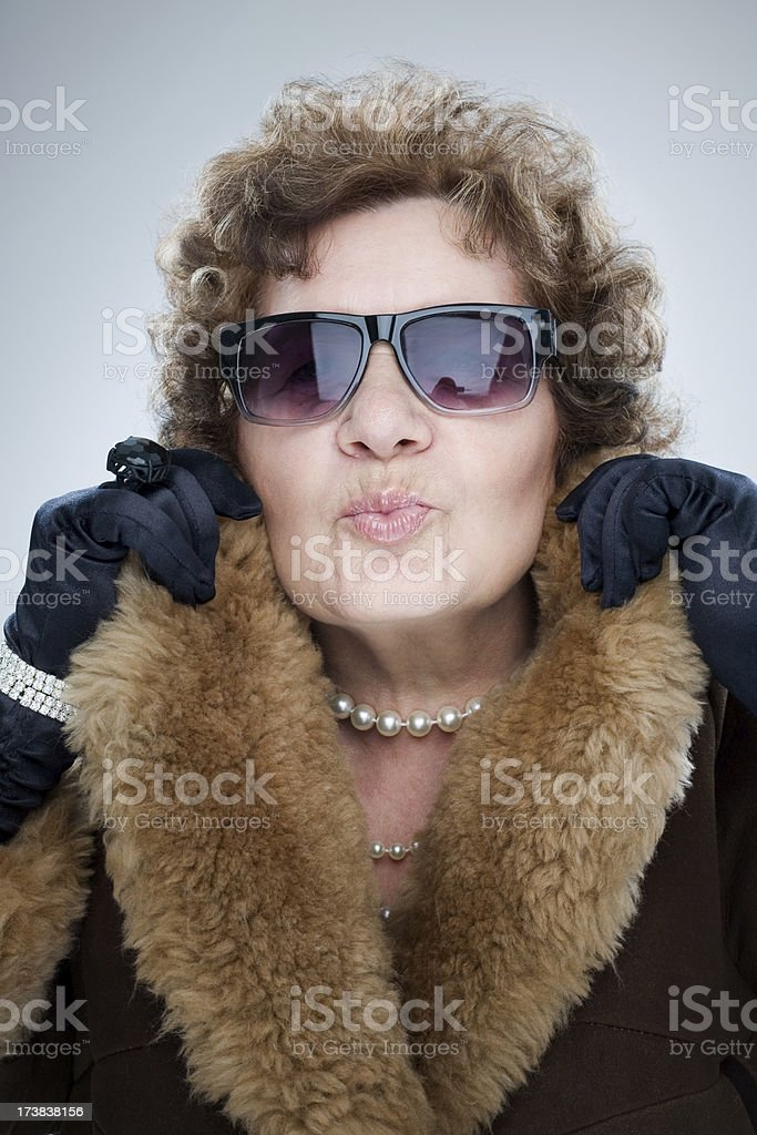 Woman Reveling In Her Wealth royalty-free stock photo