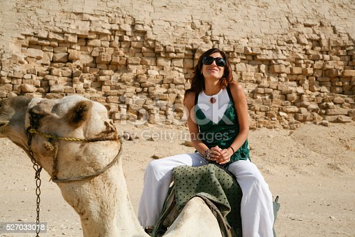 883177796istockphoto woman riding camel 527033018