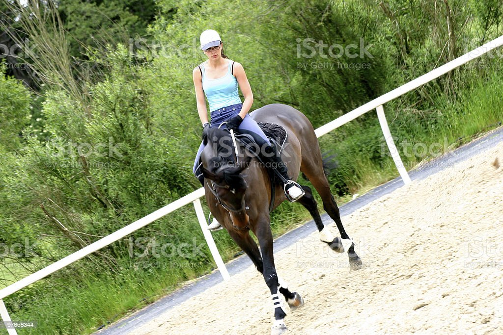 Woman Riding stock photo