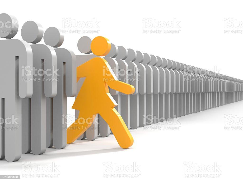 Frau laufen, neue Möglichkeiten – Foto
