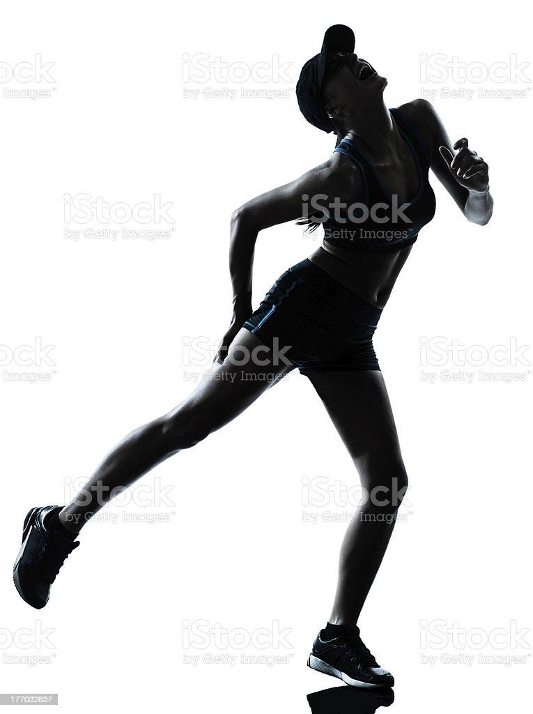 woman runner jogger cramp physical injury at legs royalty-free stock photo