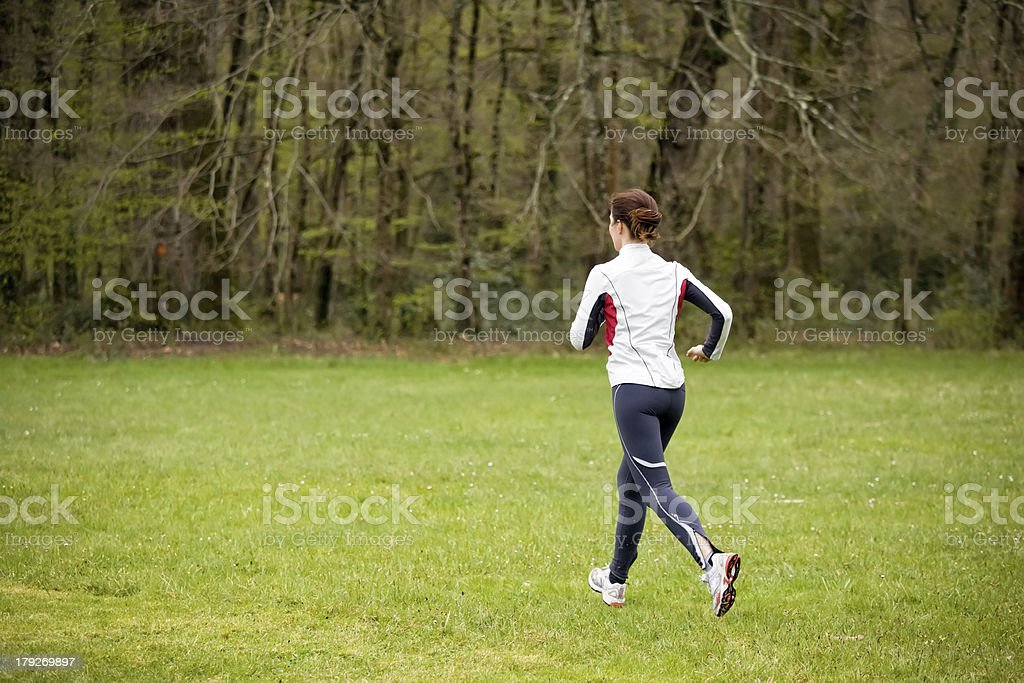 woman running in nature royalty-free stock photo