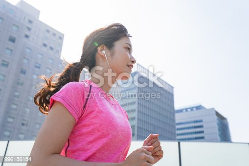 istock Woman running in the city 996156154