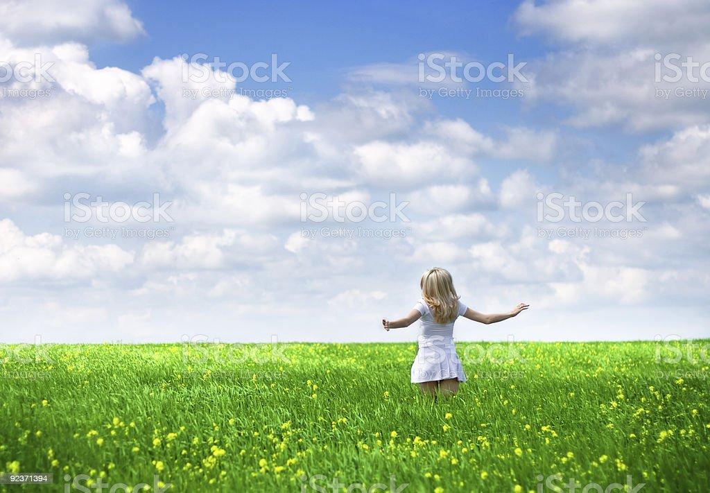 Frau läuft im Freien Lizenzfreies stock-foto