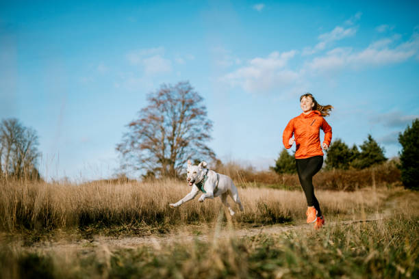 Woman running outdoors with pet dog picture id1098205864?b=1&k=6&m=1098205864&s=612x612&w=0&h=kdijt3vifr8zwye2jpwlrbeigcavkngxbwna54rxexk=