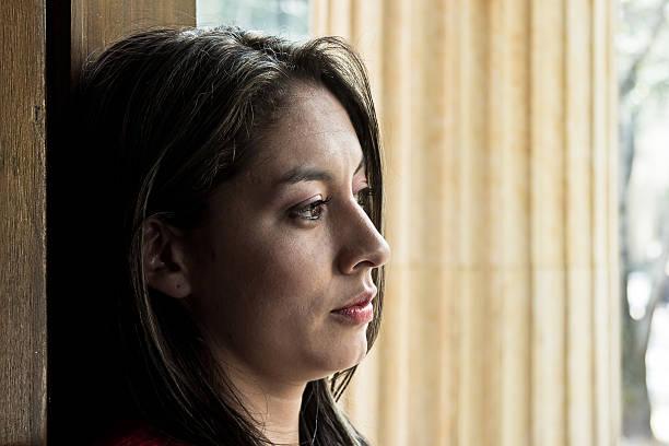 Woman sad stock photo