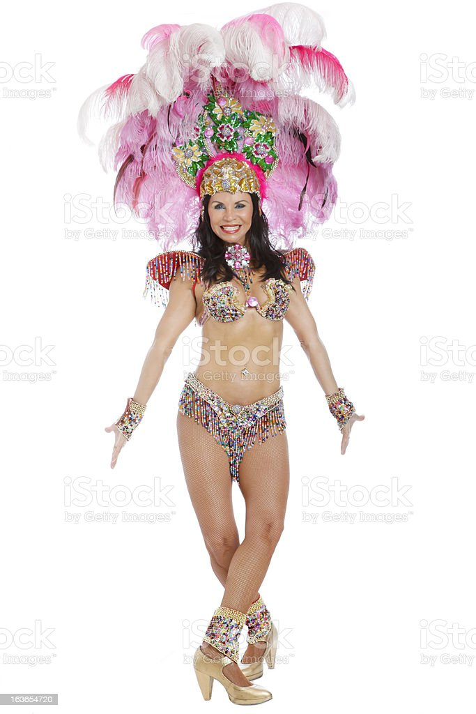 Woman Samba Dancer royalty-free stock photo