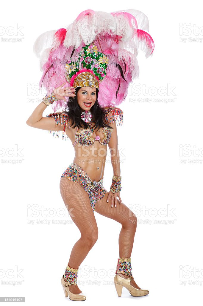 Woman Samba Dancer royalty-free stock photo