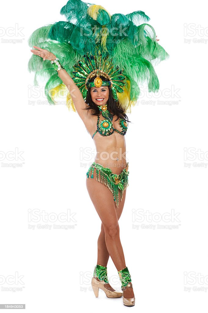 Woman Samba Dancer stock photo