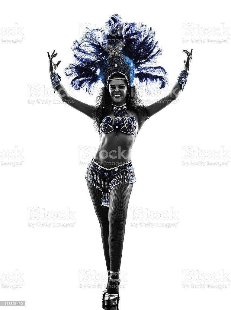 woman samba dancer silhouette royalty-free stock photo