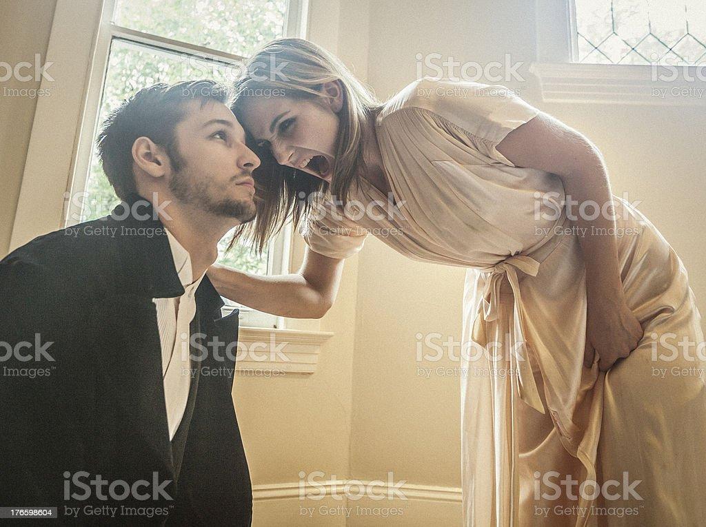 Woman screaming at Man royalty-free stock photo