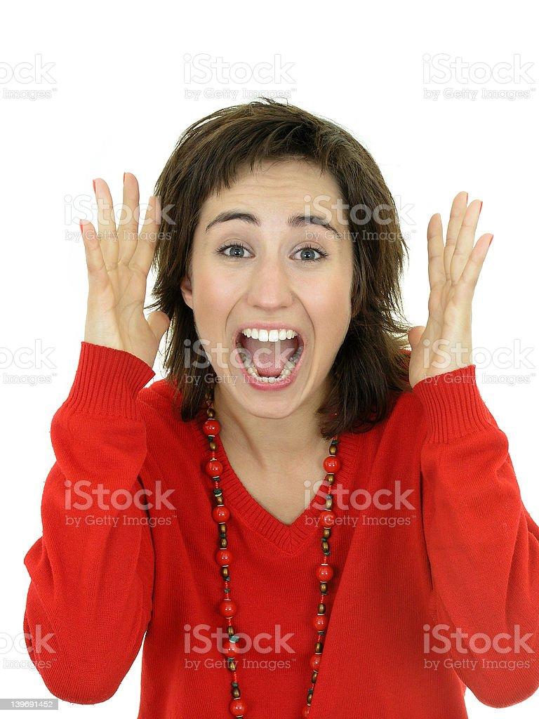 Woman Screaming royalty-free stock photo